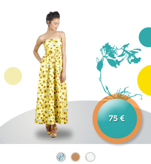 robe flamenca, bustier, jupe longue